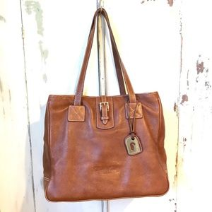 Dooney & Bourke Chestnut Leather XL Tote Bag